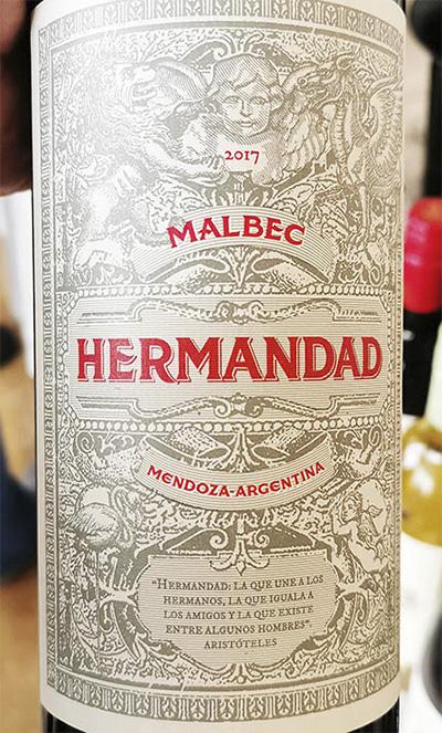 Hermandad Malbec Mendoza Argentina 2017 Красное сухое вино отзыв