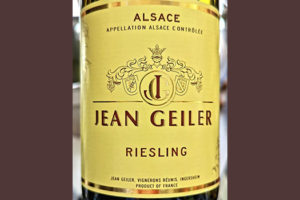 Jean Geiler Riesling Alsace 2019 Белое сухое вино отзыв