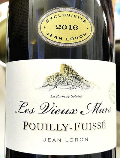 Jean Loron Les Vieux Murs Pouilly-Fuisse Exclusivite 2016 Белое сухое вино отзыв