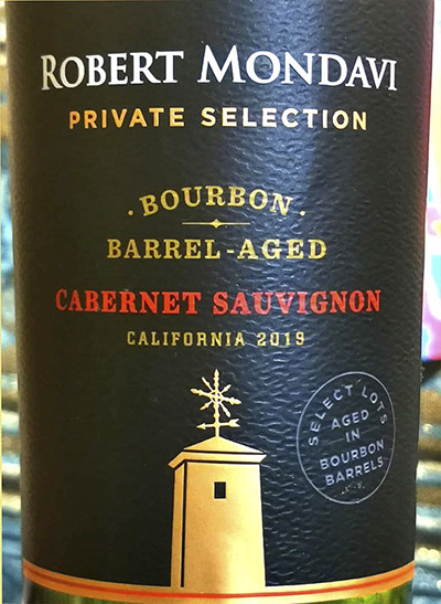 Robert Mondavi Private Collection Cabernet Sauvignon bourbon barrel aged 2019 Красное сухое вино отзыв