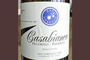 San Lorenzo Vini Casabianca Pecorino Passerina 2019 Белое сухое вино отзыв