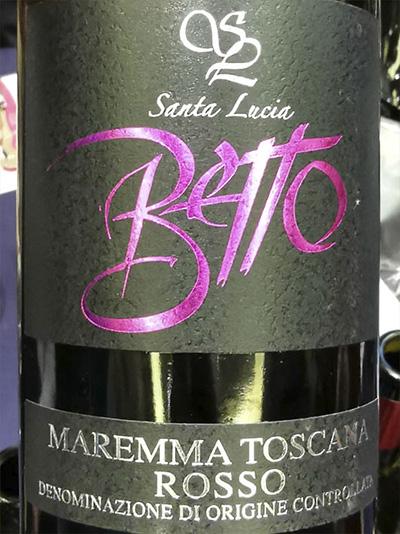 Santa Lucia Betto Maremma Toscana rosso 2016 Красное сухое вино отзыв