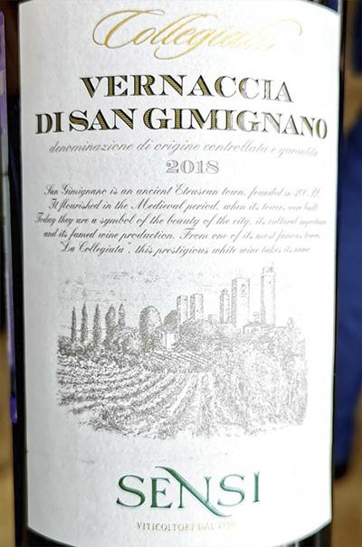 Sensi Collegiata Vernaccia di San Gimignano 2018 Белое сухое вино отзыв