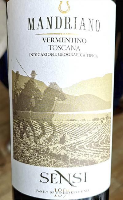 Sensi Mandriano Vermentino Toscana 2019 Белое сухое вино отзыв