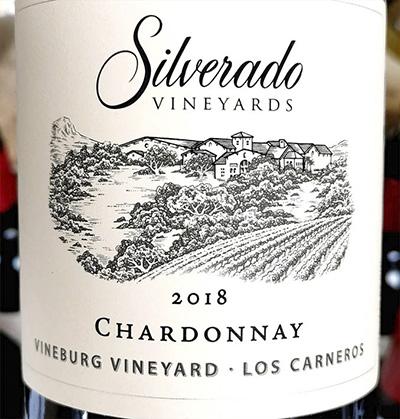 Silverado Vineyards Chardonnay Vineburg Vineyards Los Carneros 2018 Белое сухое вино отзыв