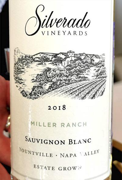 Silverado Vineyards Sauvignon Blanc Miller Ranch Napa Valley 2018 Белое сухое вино отзыв