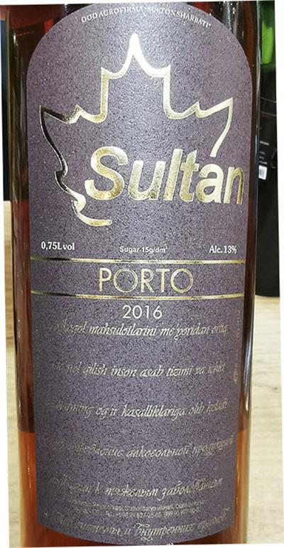 Sultan Porto 2016 Белое крепленое полусладкое вино отзыв