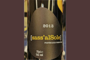Tenuta Tondaia de Spinelli Silvia Sass'alSole Montecucco rosso DOC 2013 Красное сухое вино отзыв