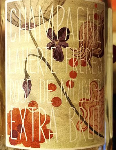 Champagne Laherte Freres Rose de Meunier Extra Brut Розовое шампанское вино экстра брют отзыв