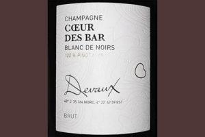 Devaux Champagne Coeur Des Bar Blanc de Noirs Brut Белое шампанское брют отзыв