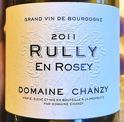 Domaine Chanzy Rully En Rosey Grand Vin de Bourgogne 2011 Белое сухое вино отзыв
