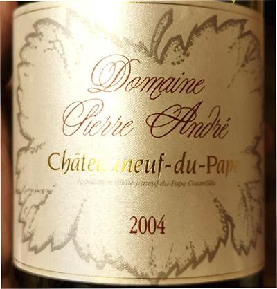 Domaine Pierre Andre Chateauneuf-du-Pape 2004 Красное сухое вино отзыв