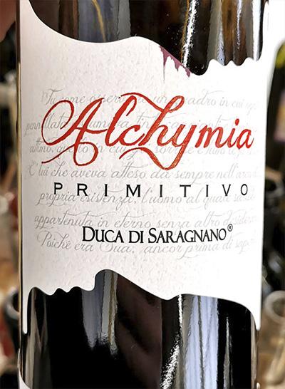 Duca di Saragnano Alchymia Primitivo 2019 Красное сухое вино отзыв