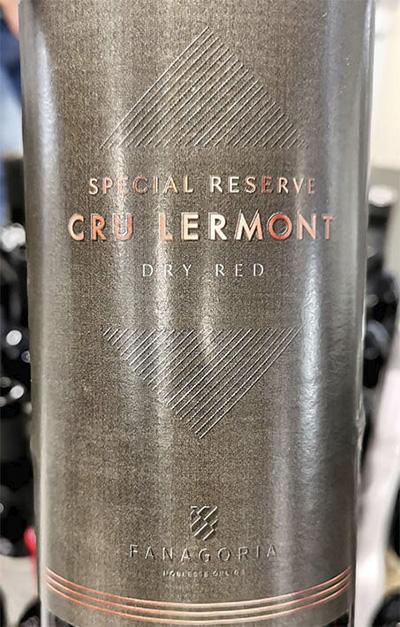 Fanagoria Cru Lermont Special Reserve 2018 Красное сухое вино отзыв