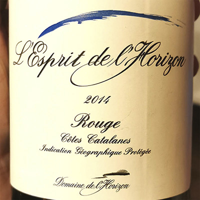 L'Esprit de l'Horizon Rouge Cotes Catalanes 2014 Красное сухое вино отзыв