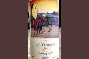 Mi Terruno Exprision Sauvignon Blanc Mendoza Argentina 2019 Белое сухое вино отзыв