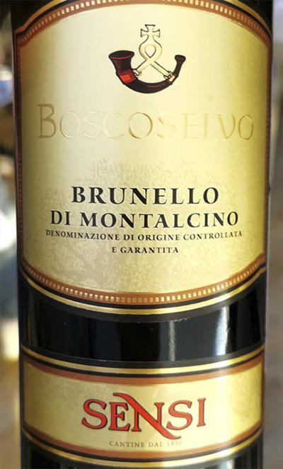 Sensi Boscoselvo Brunello di Montalcino 2017 Красное сухое вино отзыв