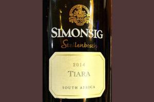 Simonsig Tiara Stellenbosch South Africa 2016 Красное сухое вино отзыв