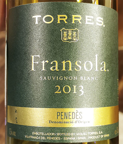 Torres Fransola Sauvignon Blanc 2013 Белое сухое вино отзыв