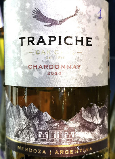 Trapiche Chardonnay Oak Cask Mendoza Argentina 2020 Белое сухое вино отзыв
