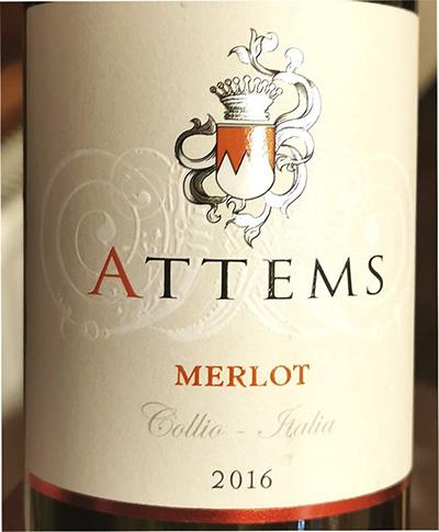 Attems Merlot Collio 2016 Красное сухое вино отзыв