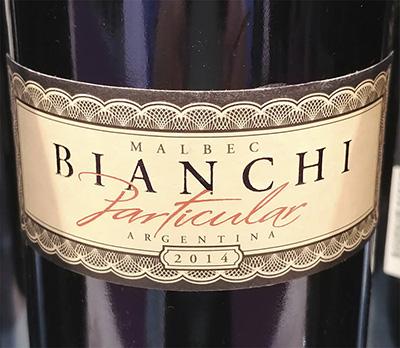 Bianchi Particular Malbec Argentina 2014 Красное сухое вино отзыв