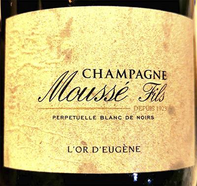 Champagne Mousse Fils L'Or d'Eugene Perpetuelle Blanc de Noirs Brut Белое шампанское брют отзыв