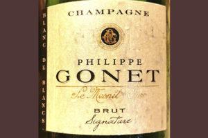 Champagne Philippe Gonet Le Mesnil sur Oger Blanc de Blancs Brut Signature Белое шампанское брют отзыв