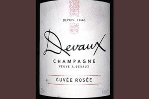 Devaux Champagne Cuvee Rose Brut Розовое шампанское брют отзыв