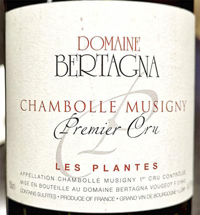 Domaine Bertagna Les Plantes Chambolle Musigny Premier Cru 2017 Красное сухое вино отзыв