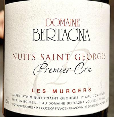 Domaine Bertagna Nuits Saint Georges Premier Cru Les Murgers 2014 Красное сухое вино отзыв