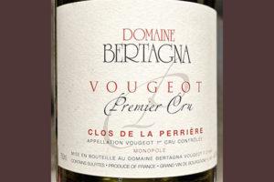 Domaine Bertagna Vougeot Premier Cru Clos de la Perriere Monopole 2014 Красное сухое вино отзыв