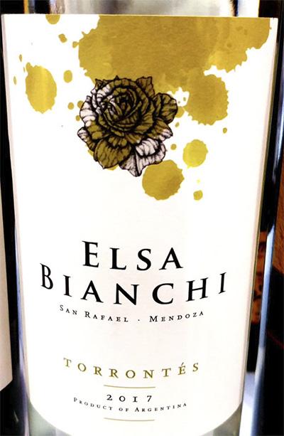 Elsa Bianchi Torrontes 2017 Белое сухое вино отзыв