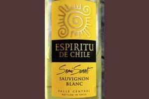 Espiritu de Chile Sauvignon Blanc Semi Sweet 2020 Белое полусладкое вино отзыв