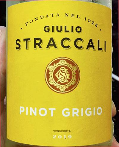 Giulio Straccali Pinot Grigio 2019 Белое сухое вино отзыв