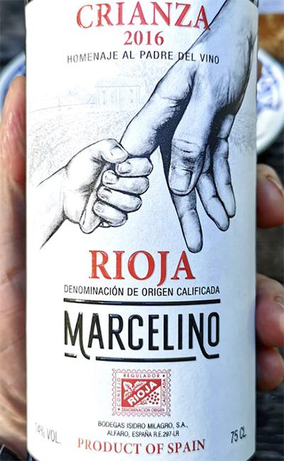 Isidro Milagro Marcelino Crianza Rioja 2016 Красное сухое вино отзыв