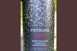 Pietrame Edizione Limitata Montepulciano d'Abruzzo 2019 Красное сухое вино отзыв