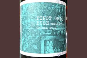 Pino Gris Esse Unplugged Crimea 2019 Белое сухое вино отзыв