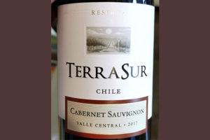 TerraSur Cabernet Sauvignon Reserva Chile 2017 Красное сухое вино отзыв