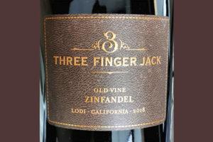 Three Finger Jack Old Wine Zinfandel Lodi 2018 Красное сухое вино отзыв