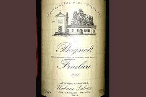 Urbano Salvan Bagnoli Friularo 2011 Красное сухое вино отзыв