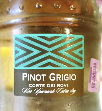 Villa Degli Olmi Corte dei Rovi Pinot Grigio Spumante Extra Dry 2019 Игристое белое сухое Отзыв