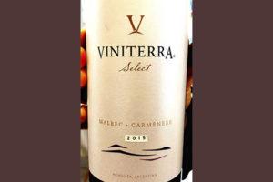 Viniterra Select Malbec Carmenere Argentina 2015 Красное сухое вино отзыв