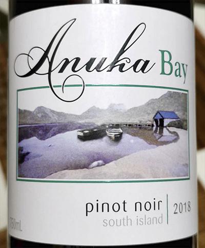 Anuka Bay Pinot Noir South Island 2018 Красное сухое вино отзыв