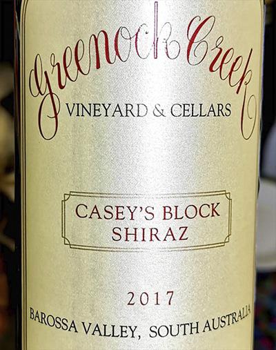Greenock Creek Casey's Block Shiraz 2017 Красное сухое вино отзыв