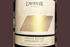 L'Avenir Chenin Blanc Single Block 2016 Белое сухое вино отзыв