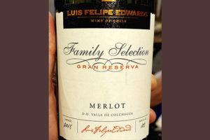 Luis Felipe Edwards Family Selection Merlot Gran Reserva 2018 Красное сухое вино отзыв