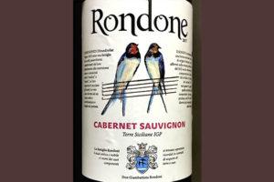 Rondone Cabernet Sauvignon Terre Siciliane 2017 Красное сухое вино отзыв