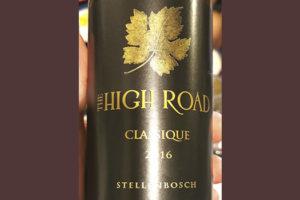 The High Road Classique Stellenbosch 2016 Красное сухое вино отзыв