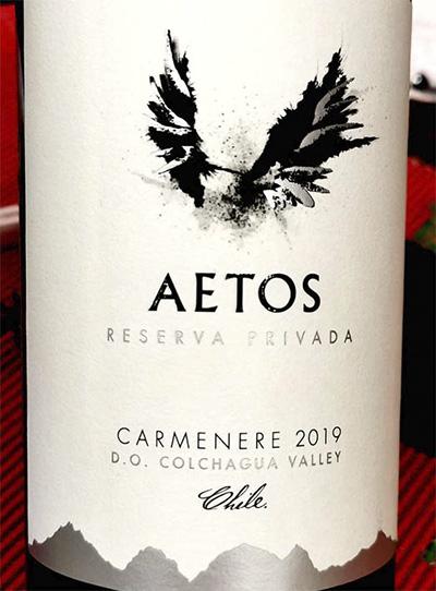 Aetos Carmenere Reserva Privada Colchagua Valley 2019 Красное сухое вино отзыв
